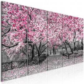 Quadro - Magnolia Park (5 Parts) Narrow Pink
