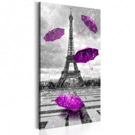 Quadro - Paris: Purple Umbrellas