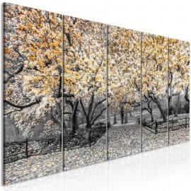 Quadro - Magnolia Park (5 Parts) Narrow Orange