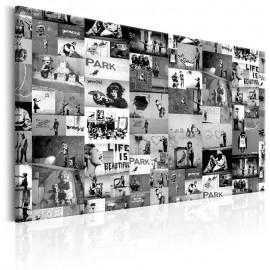 Quadro - Banksy: Graffiti Collage