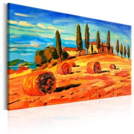 Quadro - August in Tuscany