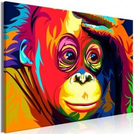 Cuadro - Colourful Orangutan (1 Part) Wide