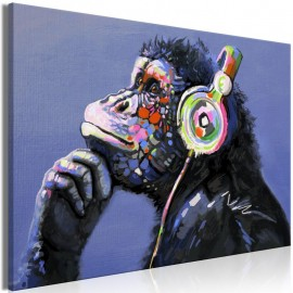 Cuadro - Musical Monkey (1 Part) Wide