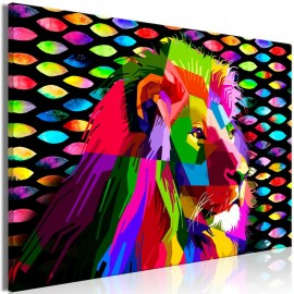 Cuadro - Rainbow Lion (1 Part) Wide