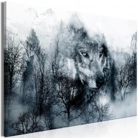 Cuadro - Mountain Predator (1 Part) Wide Black and White