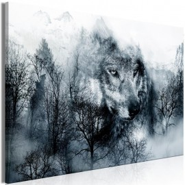 Quadro - Mountain Predator (1 Part) Wide Black and White