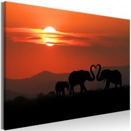 Cuadro - Elephants in Love (1 Part) Wide