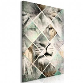 Quadro - Lion on the Chessboard (1 Part) Vertical