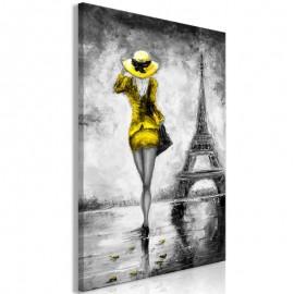 Quadro - Parisian Woman (1 Part) Vertical Yellow