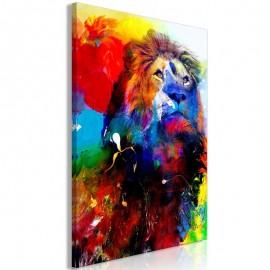 Quadro - Lion and Watercolours (1 Part) Vertical