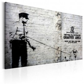 Cuadro - Graffiti Area (Police and a Dog) by Banksy