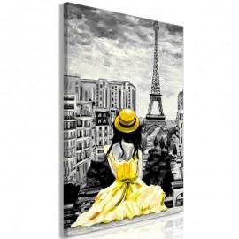 Quadro - Paris Colour (1 Part) Vertical Yellow