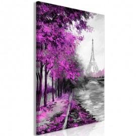 Quadro - Paris Channel (1 Part) Vertical Pink