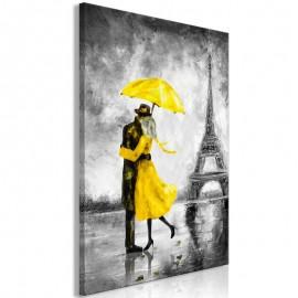 Quadro - Paris Fog (1 Part) Vertical Yellow