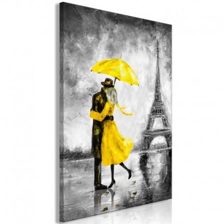 Cuadro - Paris Fog (1 Part) Vertical Yellow