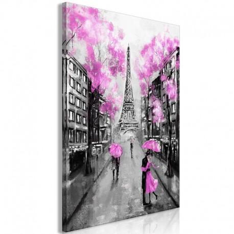 Cuadro - Paris Rendez-Vous (1 Part) Vertical Pink