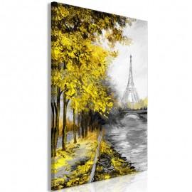 Quadro - Paris Channel (1 Part) Vertical Yellow