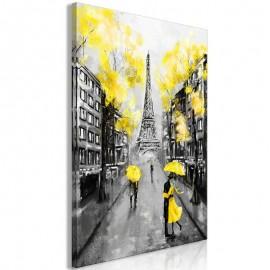 Quadro - Paris Rendez-Vous (1 Part) Vertical Yellow
