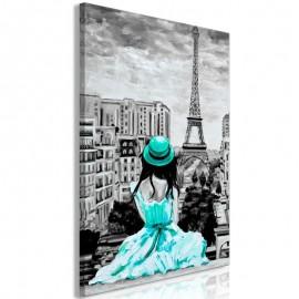Quadro - Paris Colour (1 Part) Vertical Green