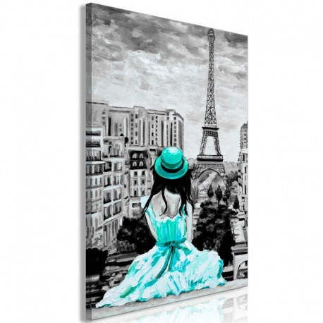 Cuadro - Paris Colour (1 Part) Vertical Green