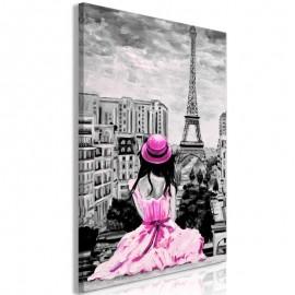 Quadro - Paris Colour (1 Part) Vertical Pink
