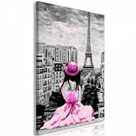 Cuadro - Paris Colour (1 Part) Vertical Pink