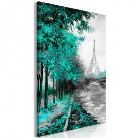 Cuadro - Paris Channel (1 Part) Vertical Green