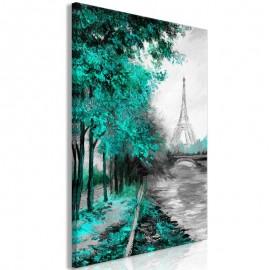 Quadro - Paris Channel (1 Part) Vertical Green