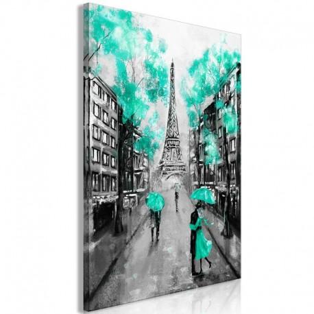 Cuadro - Paris Rendez-Vous (1 Part) Vertical Green