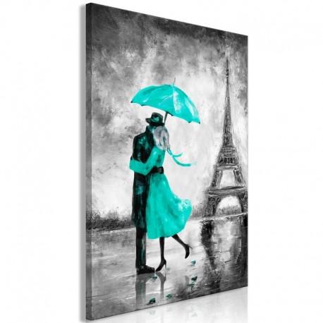 Cuadro - Paris Fog (1 Part) Vertical Green