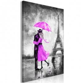 Quadro - Paris Fog (1 Part) Vertical Pink