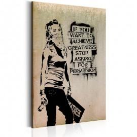 Cuadro - Graffiti Slogan by Banksy
