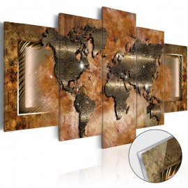 Quadro acrílico - Steel Map [Glass]