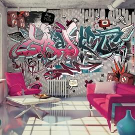 Fotomural - Grafiti: ¡hola Tú!