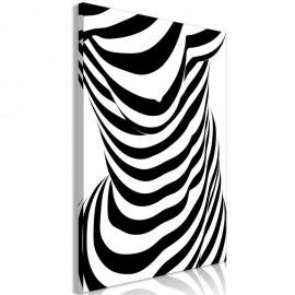 Cuadro - Zebra Woman (1 Part) Vertical