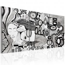 Quadro pintado à mão - Silver Kiss