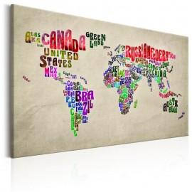 Cuadro - World Map: World Tour (EN)