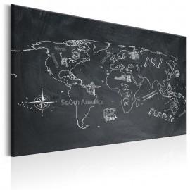 Cuadro - World Map: Travel broadens the Mind