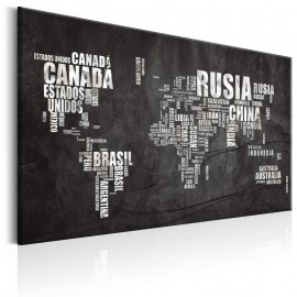 Cuadro - World Map: Mundo Negro