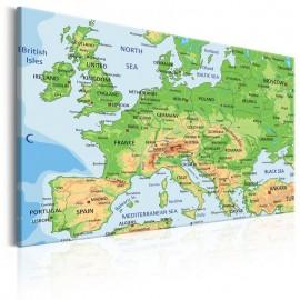 Cuadro - Map of Europe