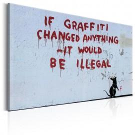 Cuadro - If Graffiti Changed Anything by Banksy