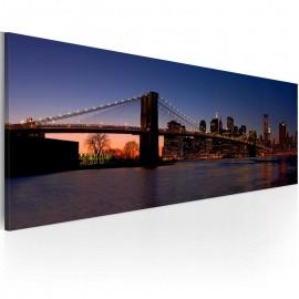 Cuadro - Puente do Brooklyn - panorama