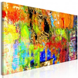 Quadro - Colourful Abstraction (1 Part) Narrow
