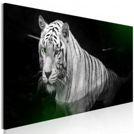 Cuadro - Shining Tiger (1 Part) Green Narrow
