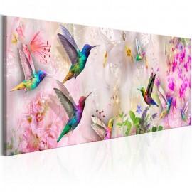 Cuadro - Colourful Hummingbirds (1 Part) Narrow