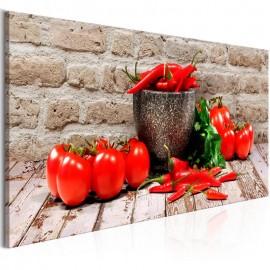Cuadro - Red Vegetables (1 Part) Brick Narrow