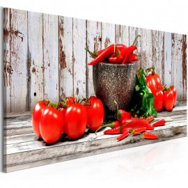 Cuadro - Red Vegetables (1 Part) Wood Narrow