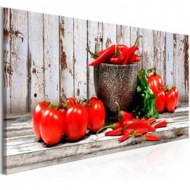 Quadro - Red Vegetables (1 Part) Wood Narrow