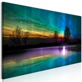 Cuadro - Rainbow Aurora (1 Part) Narrow