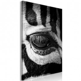 Quadro - Zebra Eye (1 Part) Vertical
